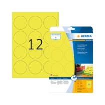 60 mm-es Herma A4 íves etikett címke, neon sárga színű (20 ív/doboz)