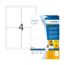 99,1*139 mm-es Herma A4 íves etikett címke, átlátszó (víztiszta) színű (25 ív/doboz)