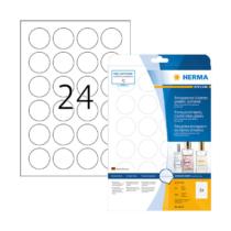40 mm-es Herma A4 íves etikett címke, átlátszó (víztiszta) színű (25 ív/doboz)