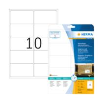 99,1*57 mm-es Herma A4 íves etikett címke, fehér színű (25 ív/doboz)