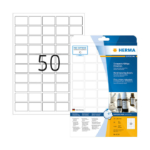 37*25 mm-es Herma A4 íves etikett címke, fehér színű (25 ív/doboz)