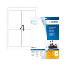 90*120 mm-es Herma A4 íves etikett címke, fehér színű (10 ív/doboz)