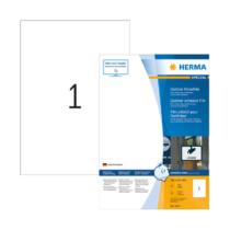 210*297 mm-es Herma A4 íves etikett címke, fehér színű (50 ív/doboz)