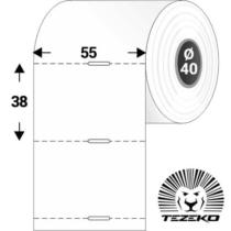 Polccímke 55 * 38 mm-es, perforált Termál szalag vezérlőlyukkal (1000 db/tekercs)