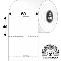 Polccímke 60 * 40 mm-es, perforált Termál szalag vezérlőlyukkal (1000 db/tekercs)