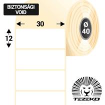 30 * 12 mm-es 1 Pályás Műanyag Biztonsági Címke (3750 Címke/Tekercs)