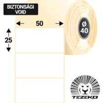 50 * 25 mm-es 1 Pályás Műanyag Biztonsági Címke (2500 Címke/Tekercs)