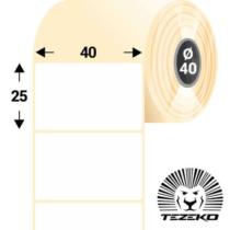 40 * 25 mm-es, 1 Pályás visszaszedhető Papír címke (2800 címke/tekercs)