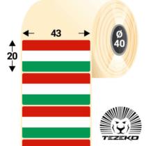 Magyar Zászló címke, 43 * 20 mm-es (1000 db/tekercs)
