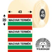 Magyar Termék címke, 43 * 20 mm-es (1000 db/tekercs)