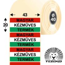 Magyar Kézműves Termék címke, 43 * 20 mm-es (1000 db/tekercs)