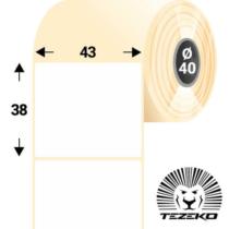 43 * 38 mm-es, 1 Pályás visszaszedhető Papír címke (1500 címke/tekercs)