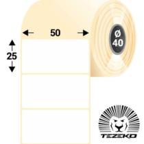 50 * 25 mm-es, 1 pályás Papír címke (2500 címke/tekercs)