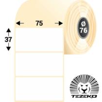 75 * 37 mm-es, 1 pályás Papír címke (3000 címke/tekercs)