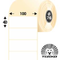 100 * 40 mm-es, 1 pályás Papír címke (4500 címke/tekercs)