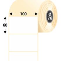 100 * 60 mm-es, 1 pályás Papír címke (3000 címke/tekercs)