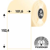 101.6 * 152.4 mm-es, 1 pályás Papír címke (1000 címke/tekercs)