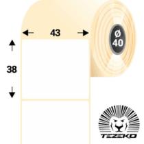 43*38 mm-es, 1 pályás Termál címke (1000 címke/tekercs)
