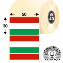 Magyar Zászló címke, 50 * 30 mm-es (1000 db/tekercs)