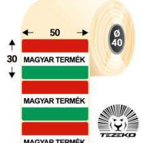 Magyar Termék címke, 50 * 30 mm-es (1000 db/tekercs)
