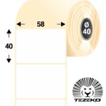 58 * 40 mm-es, 1 Pályás visszaszedhető Termál címke (1200 címke/tekercs)