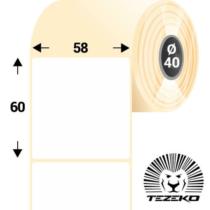 58 * 60 mm-es, 1 Pályás hűtőházi Termál címke (400 címke/tekercs)