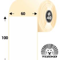 60 * 100 mm-es, 1 Pályás hűtőházi Termál címke (600 címke/tekercs)