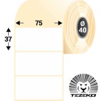 75*37 mm-es, 1 pályás Termál címke (1000 címke/tekercs)