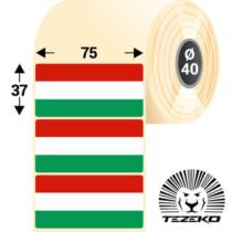 Magyar Zászló címke, 75 * 37 mm-es (1000 db/tekercs)