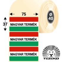 Magyar Termék címke, 75 * 37 mm-es (1000 db/tekercs)