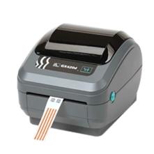 Zebra GX420d címkenyomtató, 203 dpi + Ethernet, vágó, mozgatható címkeérzékelő