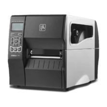 Zebra ZT230d címkenyomtató, 203 dpi + címkeleválasztó, belső felcsévélő