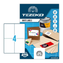 Tezeko öntapadó íves etikett címke TZ-A4-0052