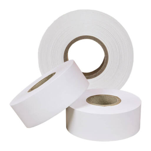 30 mm * 50 m-es textil/nejlon szalag, fehér (40/95 mm)