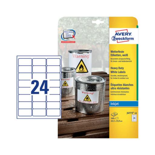 Avery Zweckform öntapadó íves etikett címke J4773-10