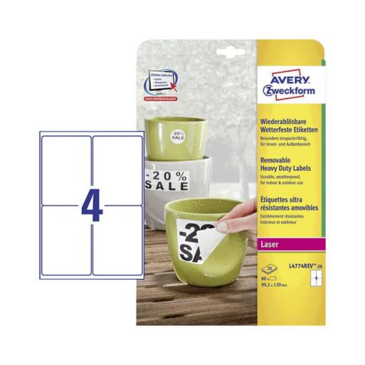 Avery Zweckform öntapadó íves etikett címke L4774REV-20
