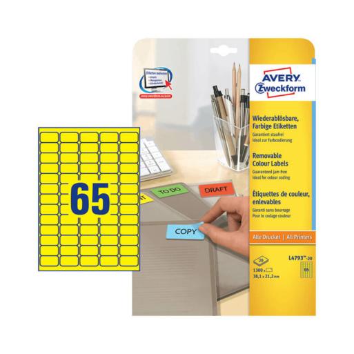 Avery Zweckform öntapadó íves etikett címke L4793-20