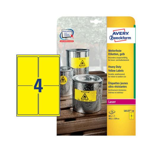 Avery Zweckform öntapadó íves etikett címke L6127-20