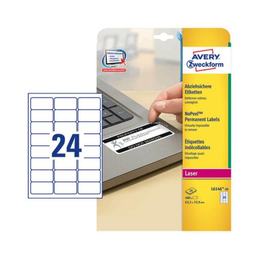 Avery Zweckform öntapadó íves etikett címke L6146-20