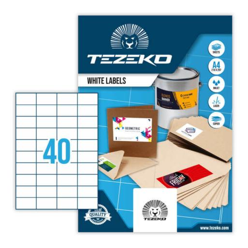 Tezeko öntapadó íves etikett címke TZ-A4-0033