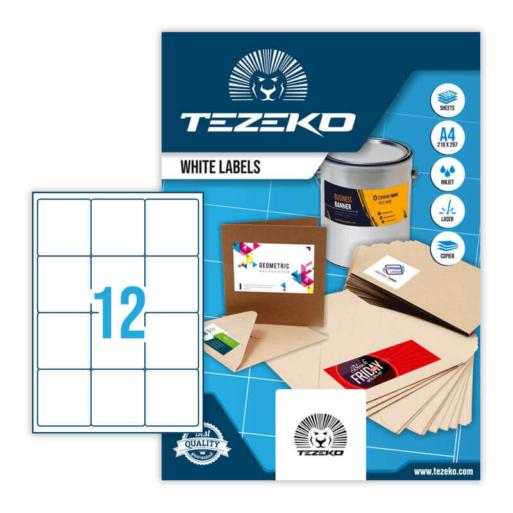 Tezeko öntapadó íves etikett címke TZ-A4-0064