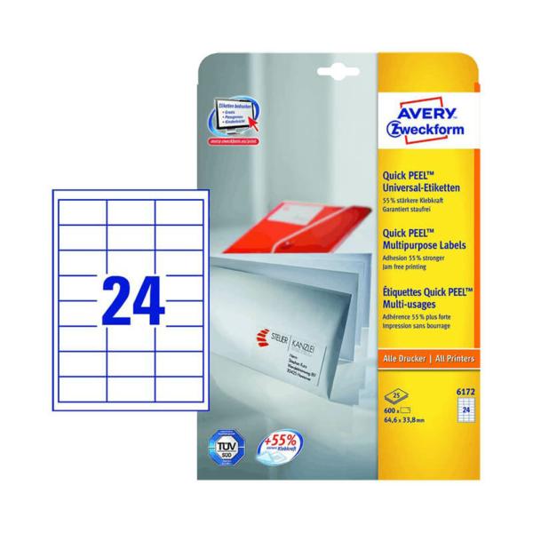Avery Zweckform öntapadó íves etikett címke 6172