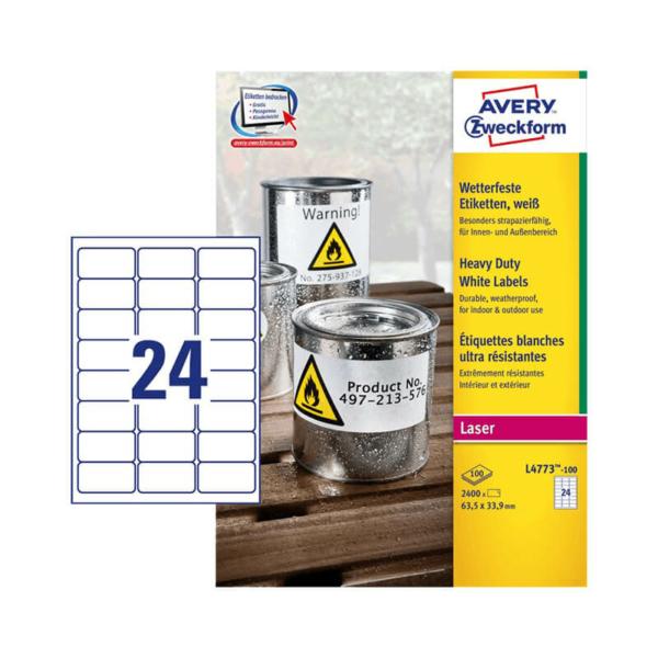Avery Zweckform öntapadó íves etikett címke L4773-100
