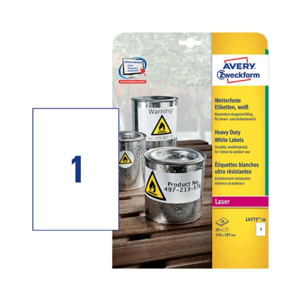 Avery Zweckform öntapadó íves etikett címke L4775-20