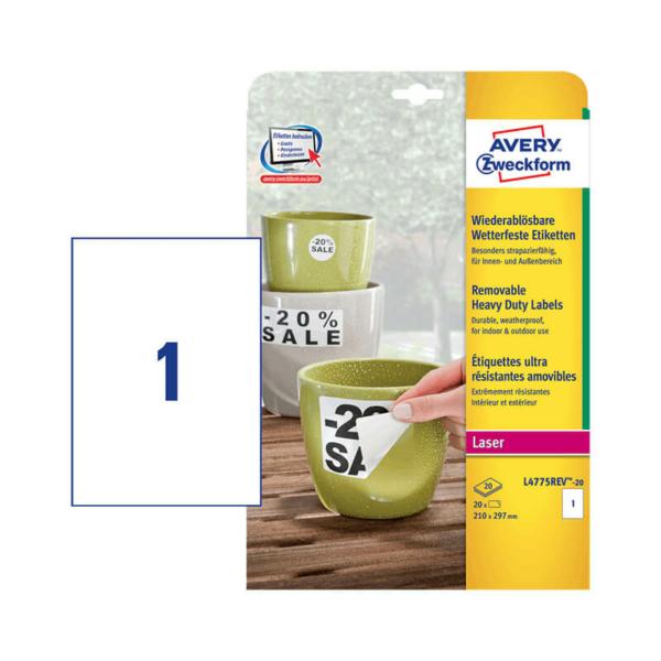 Avery Zweckform öntapadó íves etikett címke L4775REV-20