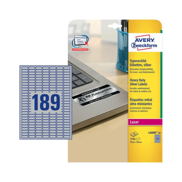 Avery Zweckform öntapadó íves etikett címke L6008-20
