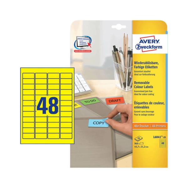 Avery Zweckform öntapadó íves etikett címke L6041-20