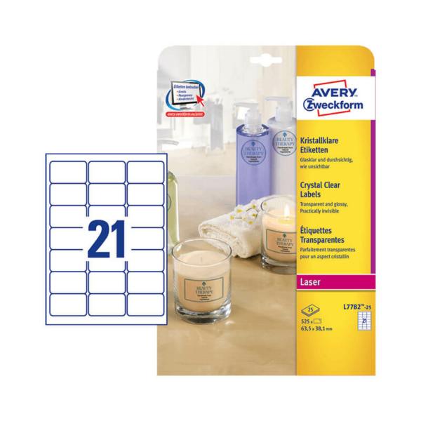 Avery Zweckform öntapadó íves etikett címke L7782-25