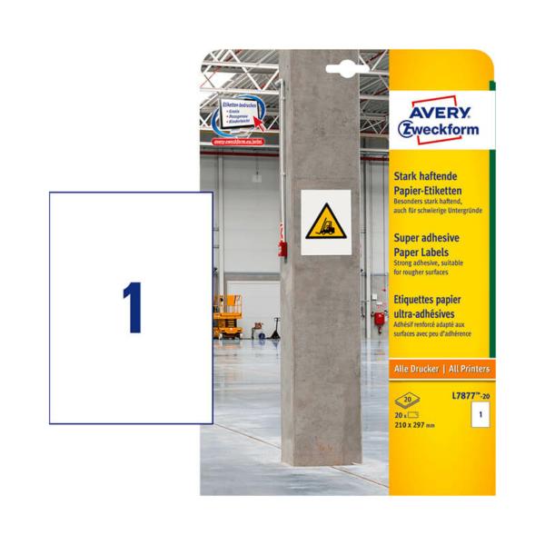 Avery Zweckform öntapadó íves etikett címke L7877-20