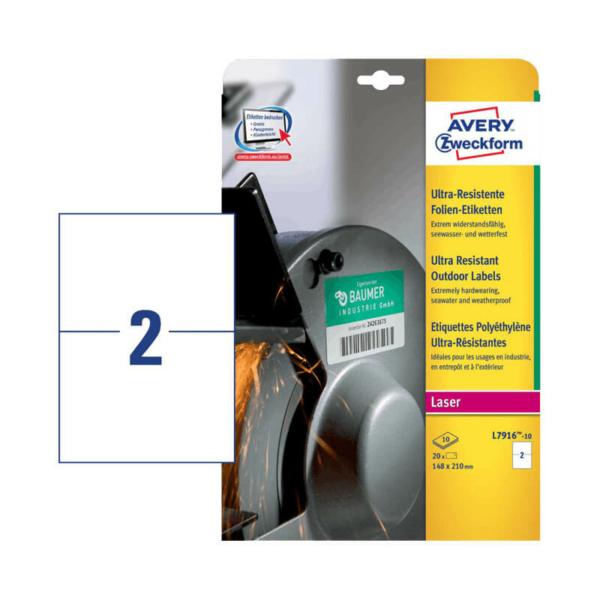 Avery Zweckform öntapadó íves etikett címke L7916-10